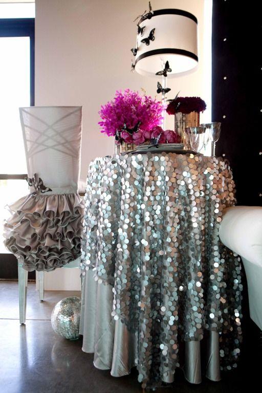 Sequin Table Decor