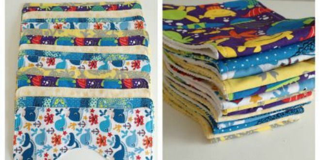 The Perfect Baby Burp Cloth Pattern from @soseweasy
