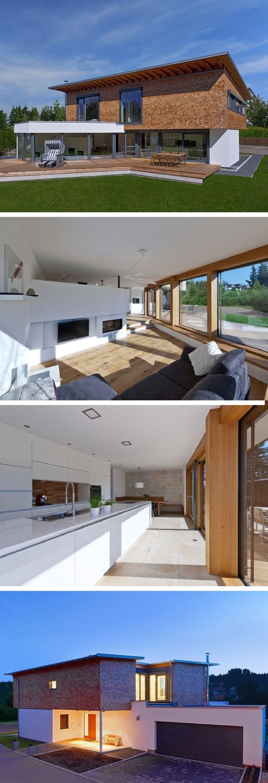 Moderne Architektur mit Holzfassade – Design House Bullinger von Baufritz – Haus …