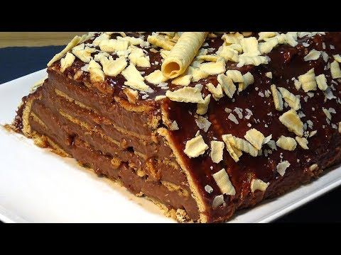 Receta Tarta flan de Nutella con galletas súper fácil - Recetas de cocina, paso a paso, tutorial - YouTube