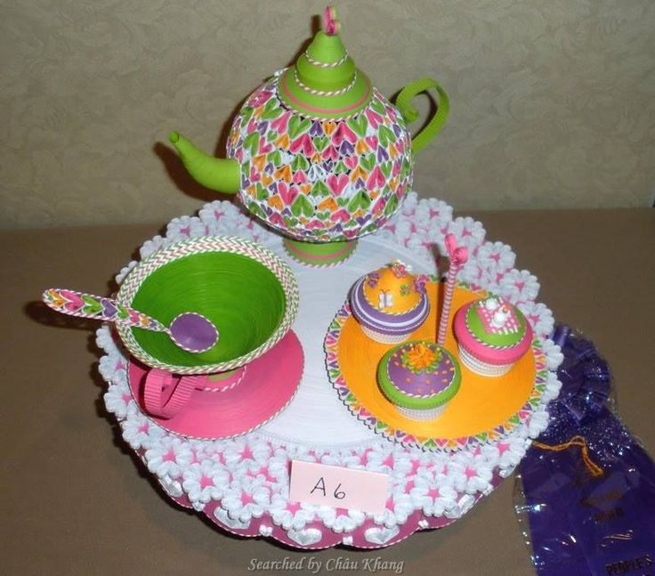 17 best images about 3d quilling about kitchenware on for Quilling kitchen set