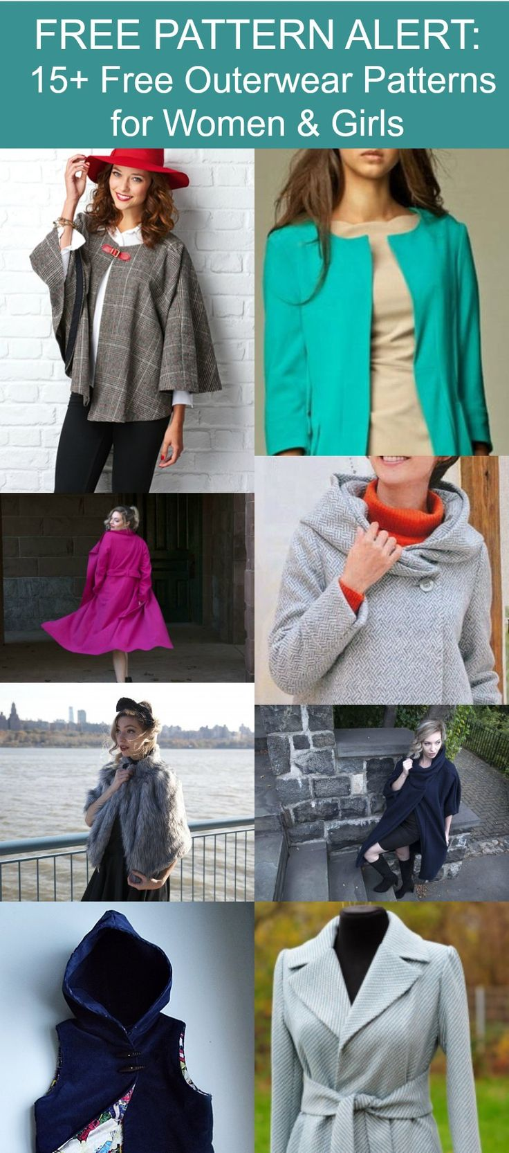489 besten Sewing for Woman: Coats-Capes-Jackets Bilder auf ...