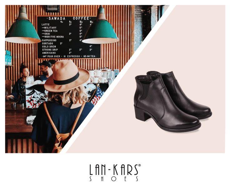 Klasyczne botki, które pasują na każdą okazję!  #shoes #lankars #black #leather #classic #minimal #elegant #woman #feminine #fashion #style #gif