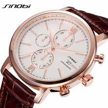 Simple Classic Business Quartz Watch Men JAPAN SINOBI Brand Leather Casual Wristwatch Chronograph Sport 2016 Relojes hombre New(China (Mainland))
