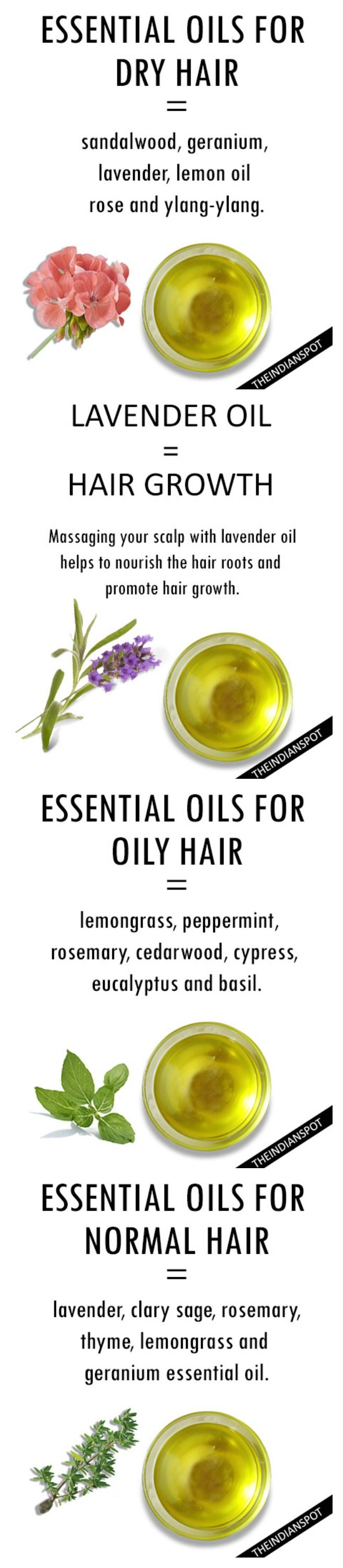 Natural remedies for hair growth and oily hair. Home remedies for hair, essential oils.