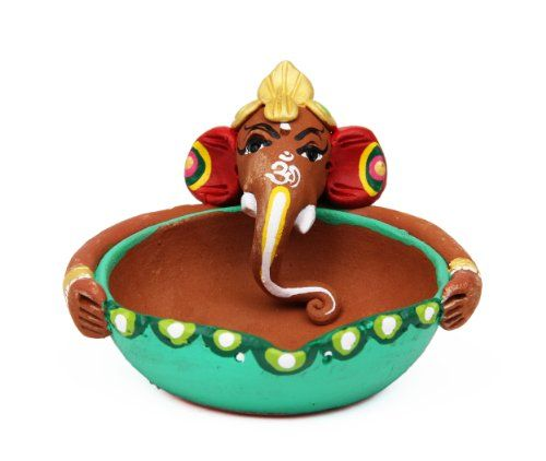 Handpainted Ganesha Terracotta Clay Tea light Candle holder Traditional Gift Ideas For Men & Women India Ethnicity,http://www.amazon.com/dp/B00FRFP4FE/ref=cm_sw_r_pi_dp_A8qLsb0JSYFSFAMK