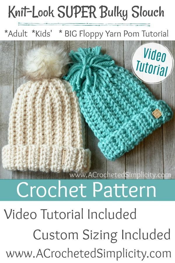 Free Crochet Pattern - Knit-Look Super Bulky Slouch | CRAFTS ...