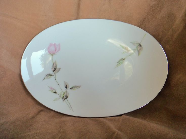 "Vintage Style House Relish Plate, ""Dawn Rose"" pattern Montgomery Ward by GrandmothersTable on Etsy"