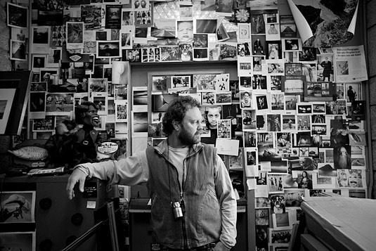 "A photograph by Chris Orwig in 2009 He writes, ""here's a portrait of one of my colleagues in his office at brooks. his name is chris broughton and he is an incredibly inspiring person, photographer and teacher."""