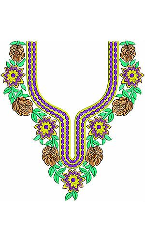 Ukrainian Festival | Amazing Neck Embroidery Design