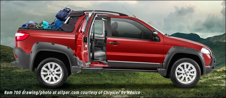 It's interesting to see what the vehicles that are sold in other parts of the world look like....This compact pickup, the Ram 700 is built in Brazil and sold in Mexico and the Caribbean... Do you think it would be a success here in the US?  Read more: http://www.allpar.com/trucks/ram/ram-700.html #Chrysler #fiat #fca #ram #ramtrucks #mopar #allpar #bonhamchrysler #trucks