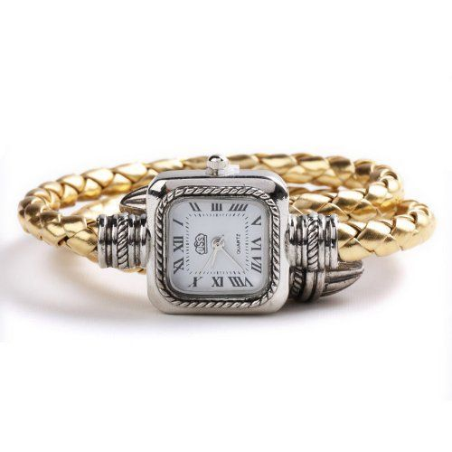 USS Unique Women Ladies Knitted Band Bracelet Style Quartz Wrist Watch Gold USS. $7.85