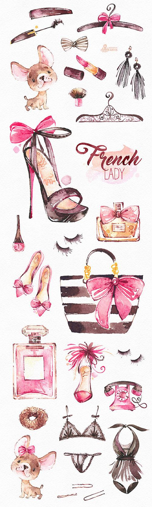 This is an fashion french collection includes 30 handpainted watercolor images. Perfect graphic for fashion projects, brand identity, invitations, cards, logos, photos, posters, wallarts, quotes, diy and more. ----------------------------------------------------------------- INSTANT DOWNLOAD Once payment is cleared, you can download your files directly from your Etsy account. ----------------------------------------------------------------- This listing includes: 30 x Different Graphic ...