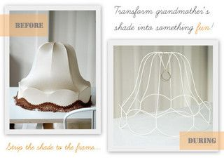 DIY Fabric Wrapped Vintage Lampshade | decor8