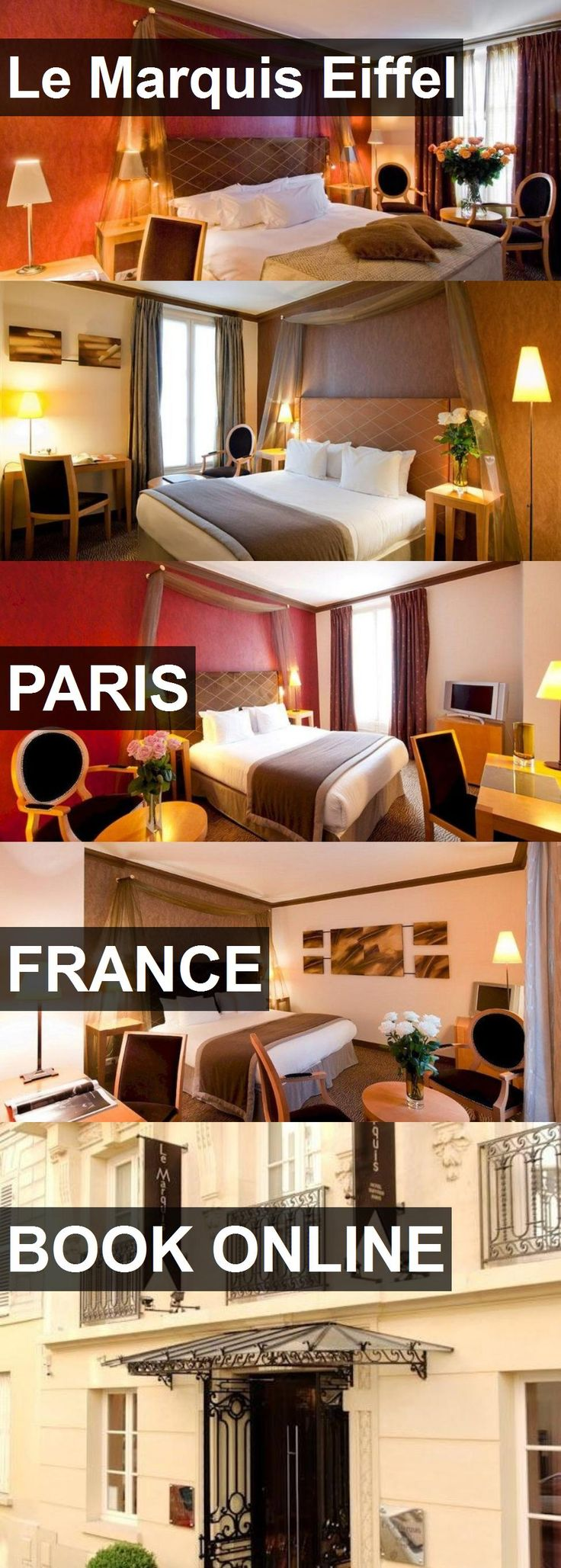 Hotel Le Marquis Eiffel in Paris, France. For more information, photos, reviews and best prices please follow the link. #France #Paris #travel #vacation #hotel