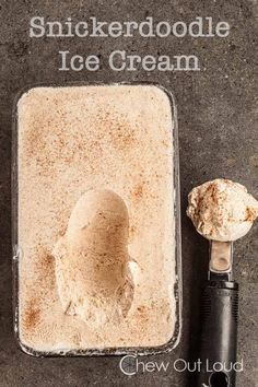 Snickerdoodle Ice Cream - Egg free, only 6 pure ingredients, and so easy.