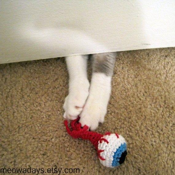 catnip eyeballs! Just what every zombie loving Cat Mom would buy their kitties.