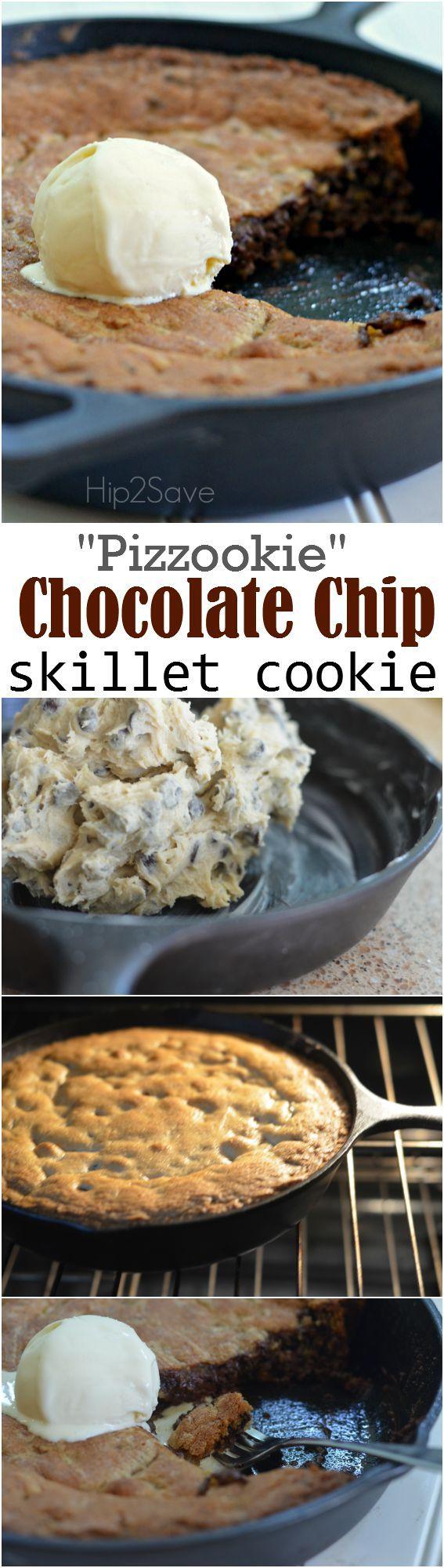 Chocolate Chip Skillet Cookie (Easy Restaurant Style Dessert)