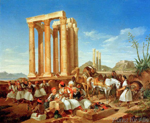 Christian Perlberg - Volksfest vor dem Olympieion in Athen