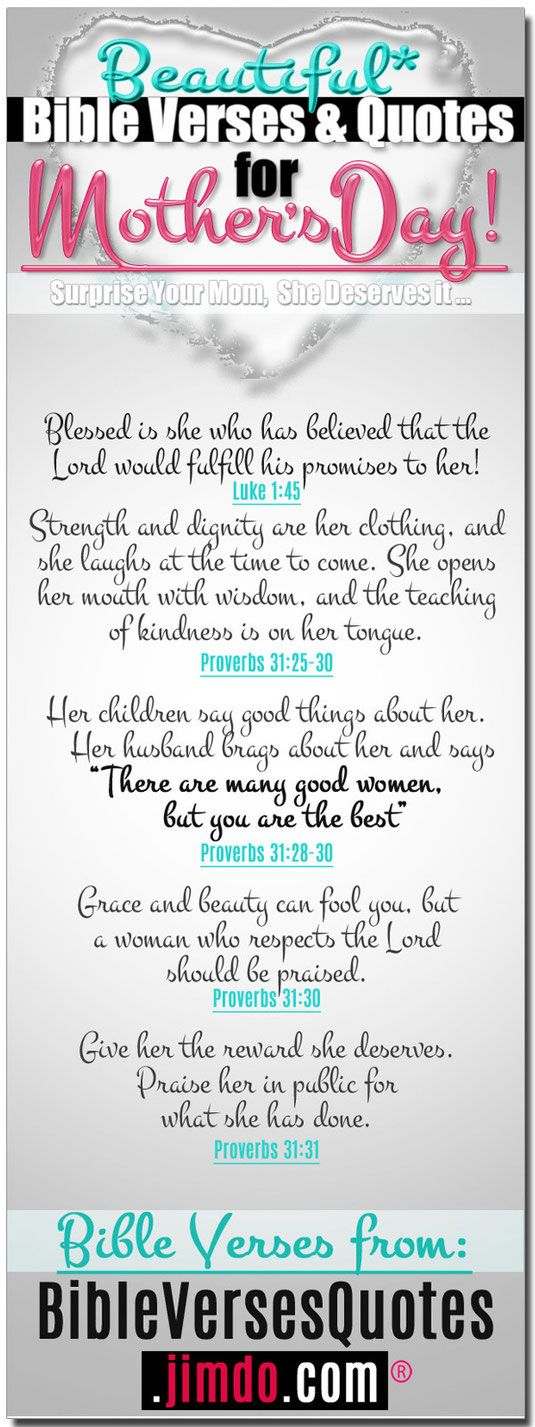 BIBLE VERSES FOR MOTHERS DAY