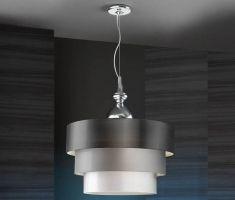 lampade originali: collezione SOPHIA cromo brillo 3 piani.