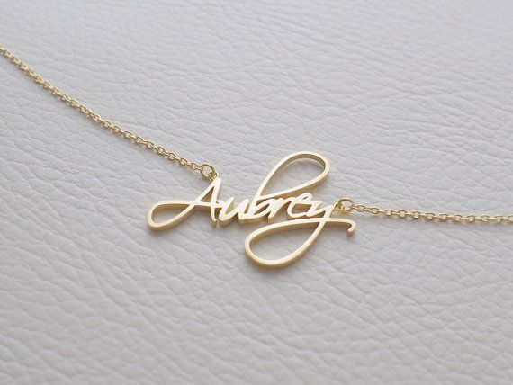 Custom Name Necklace - Personalized Name Jewelry - Children Names Necklace - New…