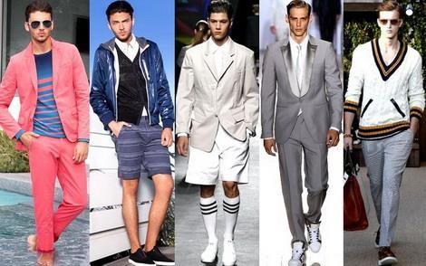 Мужские костюмы пиджак и шорты