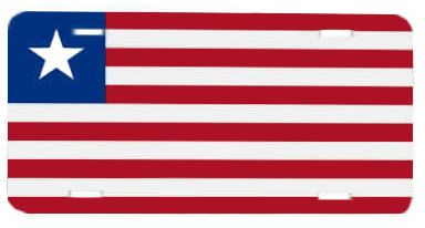 Liberia Flag License Plate Metal Wall Sign for Auto by BlingSity, $14.95