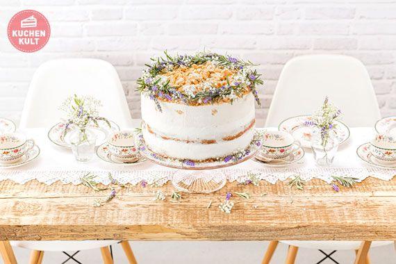 Hochzeitstorte, Modern Folk, Kräuterdeko