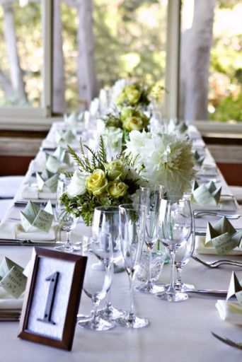 DIY vintage house number wedding table number