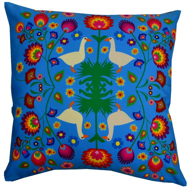 Designer decorative Folk pillow № gd405