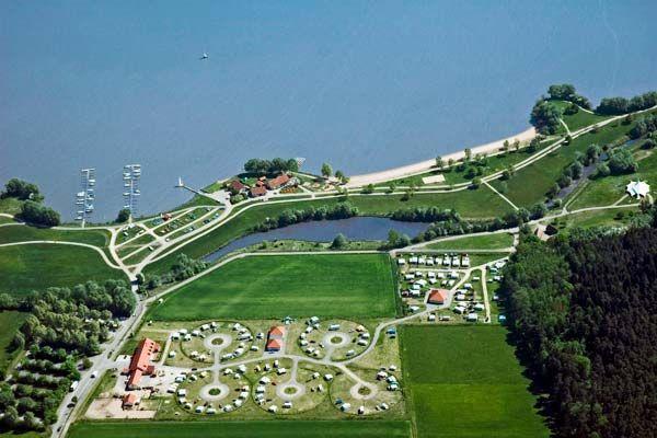 Campingplatz Zum Fischer-Michi Altmühlsee bei Nürnberg, Mittelfranken, Bayern