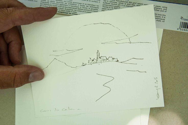 CATAN auf einer Postkarte, hangemalt & das in Sekunden schnelle - so schön! #postkarte #handbemalt #strichzeichnung #catan #aufnachcatan