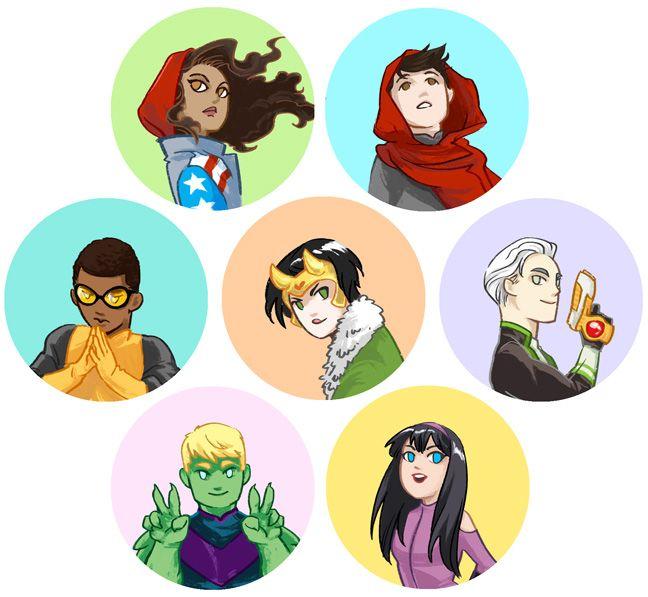 Young Avengers by beanclam.deviantart.com on @DeviantArt