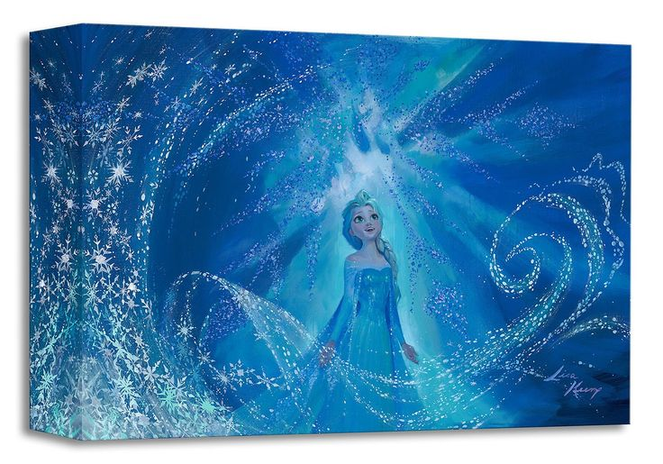 Frozen - One With the Wind and Sky - Elsa - Gallery Wrapped - Lisa Keene - World-Wide-Art.com - #frozen #disney #lisakeene