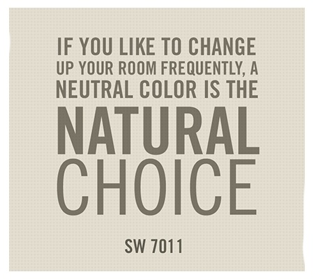 Sherwin-Williams paint color, Natural Choice (SW 7011)