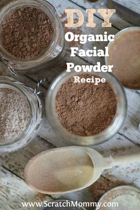 DIY Organic Facial Powder Recipe. This bad girl contains only FIVE ingredients. So easy to make...this is a must make healthy beauty product! #DIY #Makeup