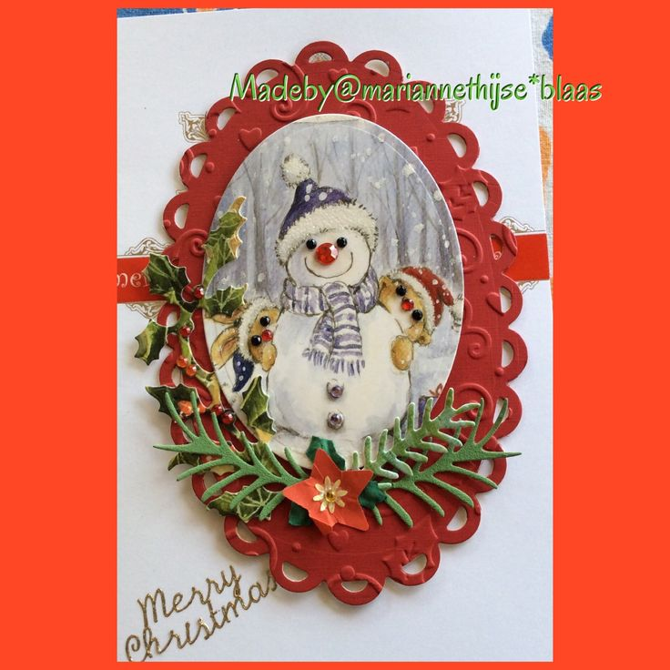Recycled Xmas card and die cut