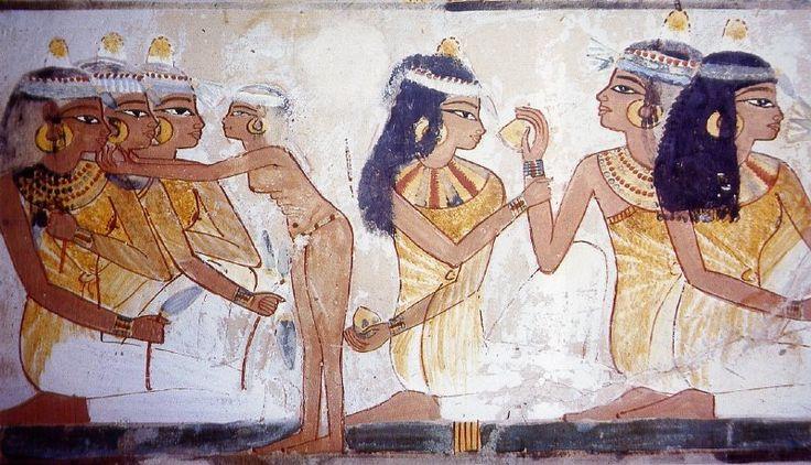 Pintura mural de la tumba de Nakht, hacia el 1390 a.C.