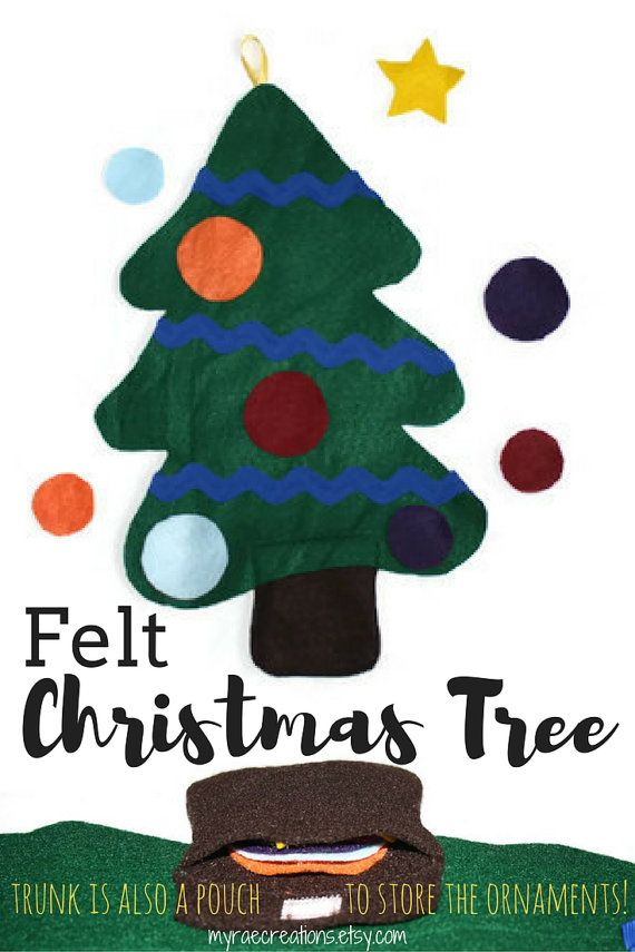 Felt Christmas Tree Activity Handmade Toddler by myraecreations