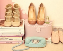 Nice shoes: Pastels, Fashion, Pastel Shoes, Style, Colors, Cherries Blossoms Girls, Vintagesho, Vintage Shoes, Vintage Love