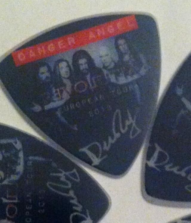 Rudy R. Rallis of Danger Angel custom guitar picks from ClaytonCustom.com