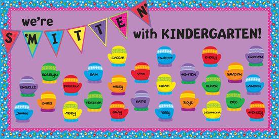We're S'MITTEN' With Kinder! | Winter Bulletin Board. http://www.mpmschoolsupplies.com/ideas/4412/were-smitten-with-kinder-winter-bulletin-board/