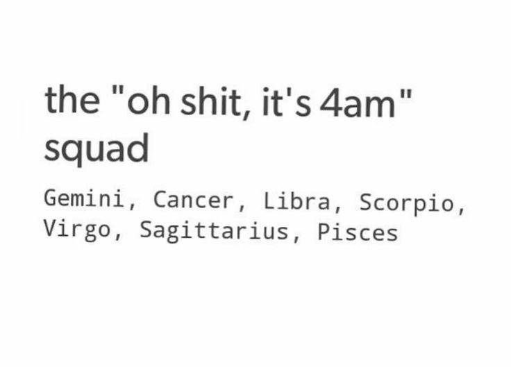 Night owl squad! Sagittarius