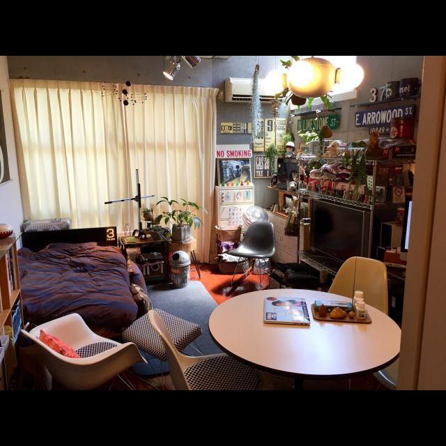 Hiroshiさんの、部屋全体,観葉植物,イームズ,雑貨,ミッドセンチュリー,コレクション,のお部屋写真