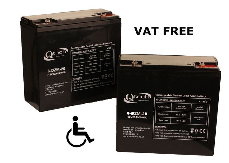 MOBILITY SCOOTER BATTERY ' 2 ' Disabled Wheelchair 12V 20ah Batteries AGM GEL in Health & Beauty, Mobility, Disability & Medical, Mobility Equipment | eBay