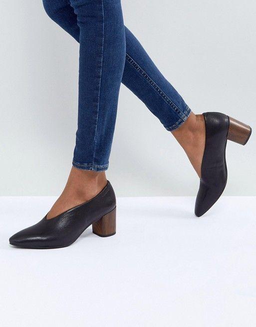 9ffcf8740ea7 Vagabond Eve Black High Vamp Wooden Heeled Shoes