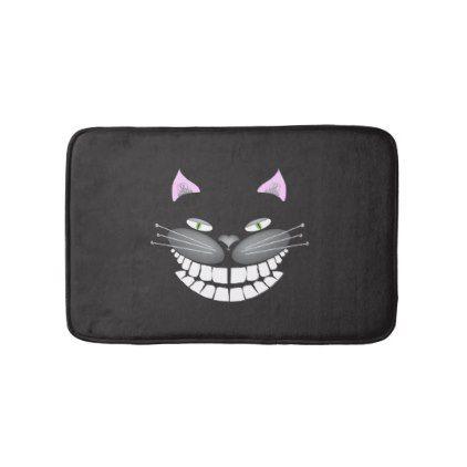 Chester the Cheshire Cat bath mat - cat cats kitten kitty pet love pussy