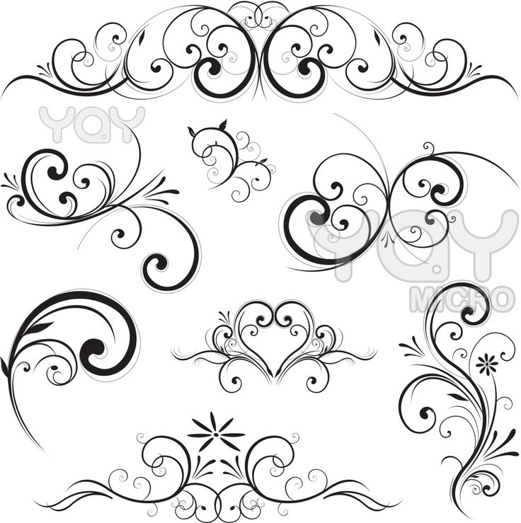 piping pattern swirling flourishes