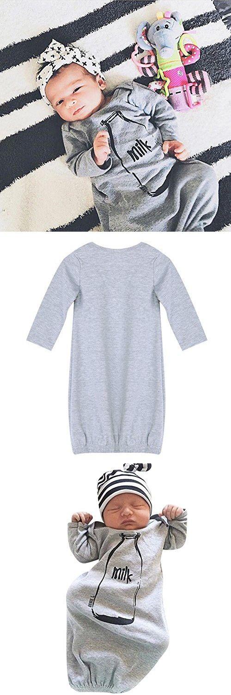 Diamondo Newborn Infant Baby Boys Clothes Romper Bodysuit Sleeping Bag Sleepsack (Gray, 0-6M)